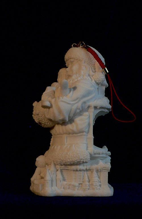 Loving Santa Claus Holding Child Ornament w/ LED Light