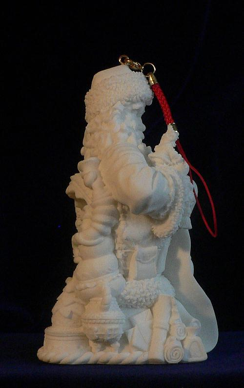 Santa Claus Ornament Naughty and Nice List Checking w/ LED Light
