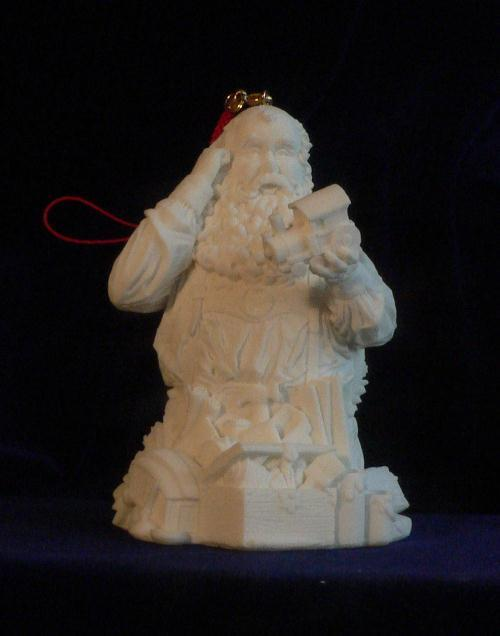 Santa Claus Quality Control Christmas Ornament w/ LED Light