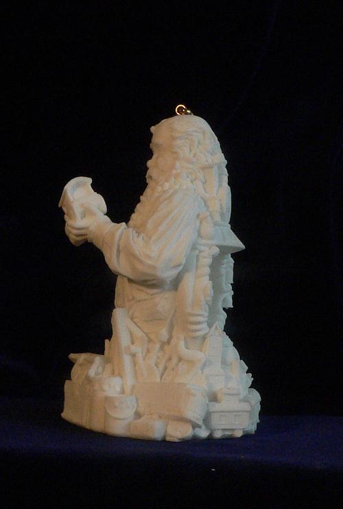 Santa Claus Quality Control Christmas Ornament w/ LED Light