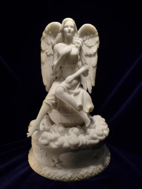 Musical Guardian Angel Rotating Jewelry Box