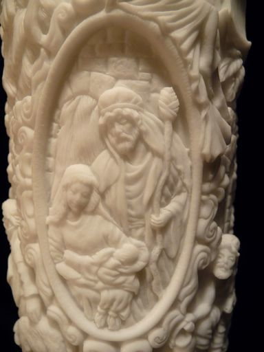 Blessed Night Nativity Pillar Candle