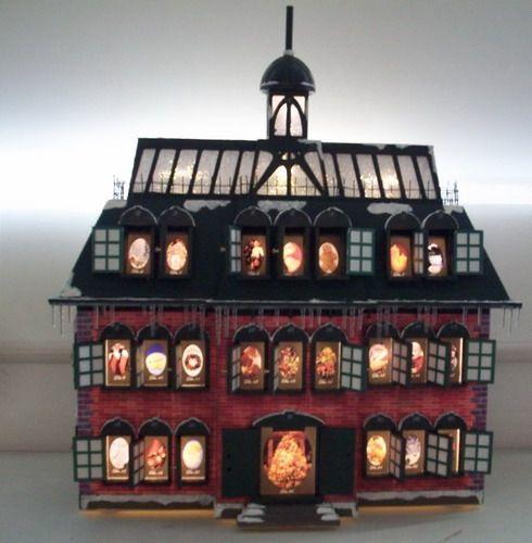 Christmas Advent House.Christmas Vacation Advent House Calendar Back Ordered