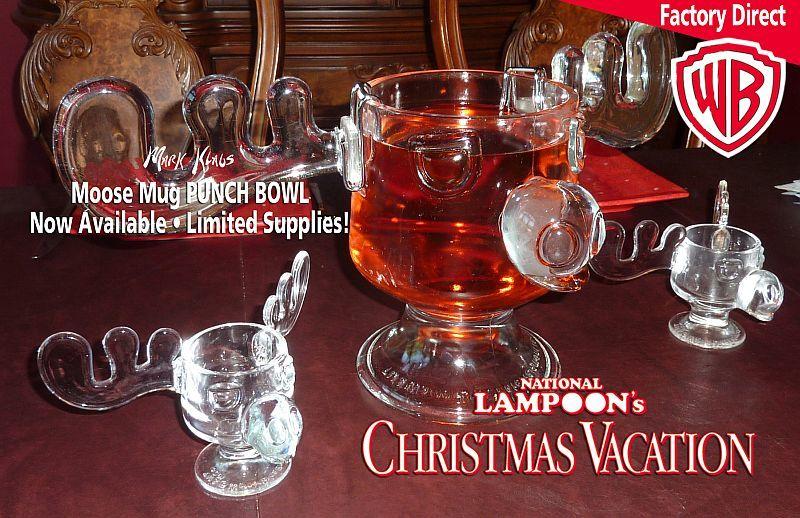 moose mug punch bowl combo - Christmas Vacation Moose Mug Set