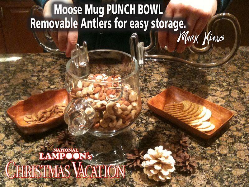 moose mug punch bowl combo - Christmas Vacation Moose Punch Bowl